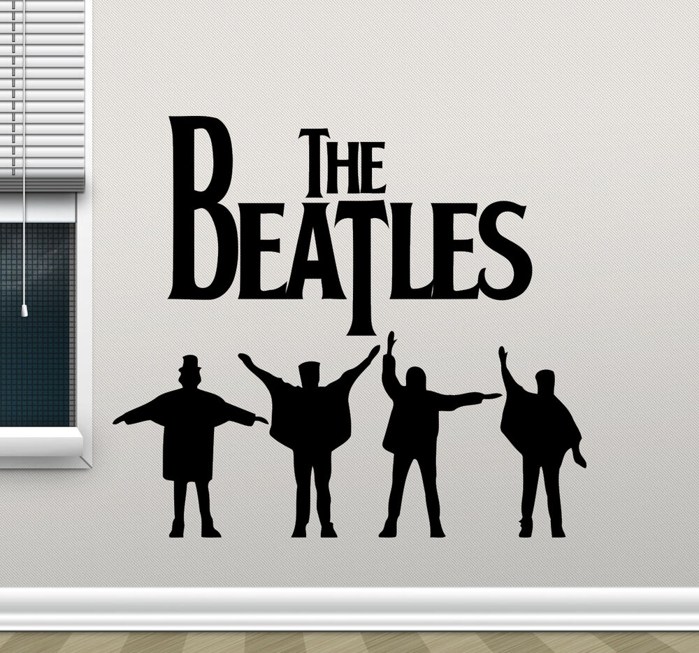The beatles wall decal music band vinyl sticker rock stars - Over the garden wall soundtrack vinyl ...