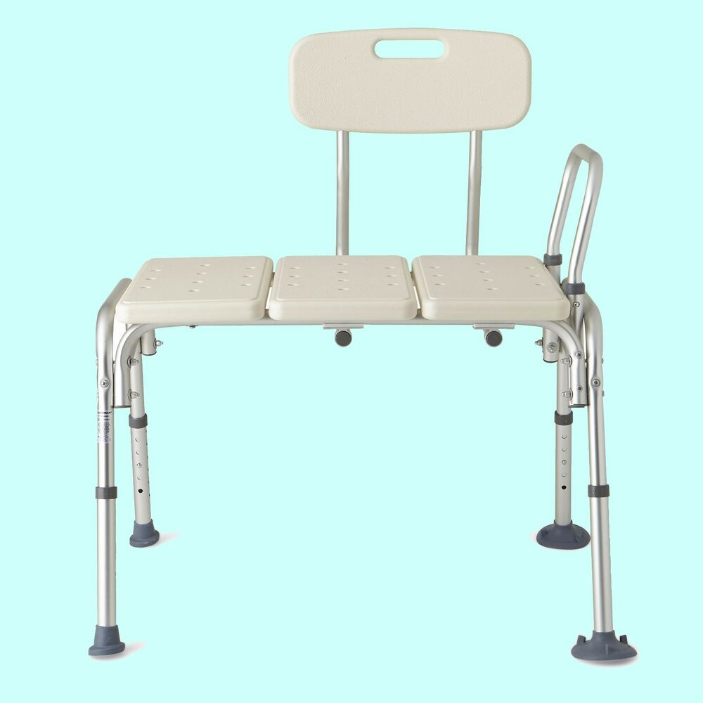 Bathtub transfer bench shower safety handicap chair adjustable seat bath tub aid ebay Transfer bath bench