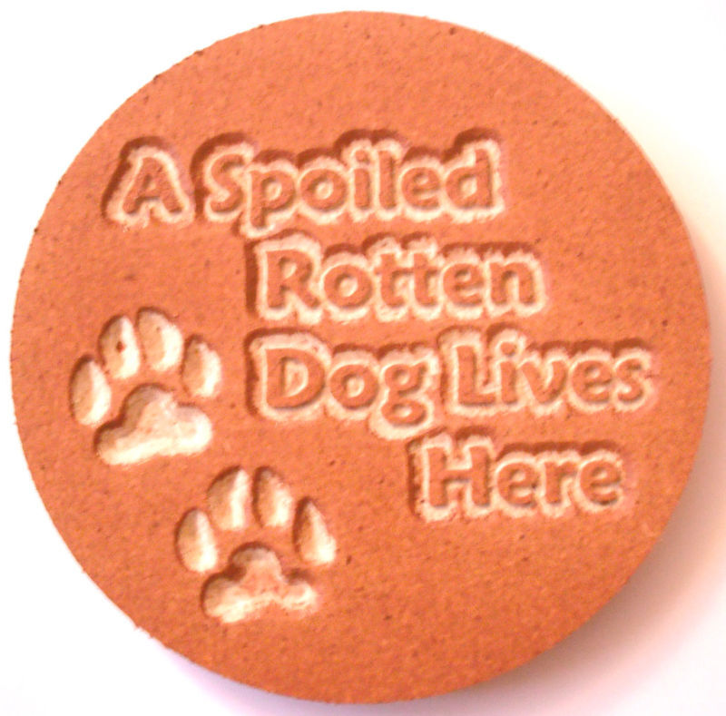 dog plaque plastic mold for plaster concrete mould ebay. Black Bedroom Furniture Sets. Home Design Ideas