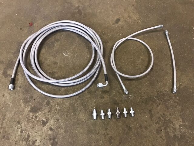 Brake Line Replacement Importance : Stainless main rear brake line replacement kit ford