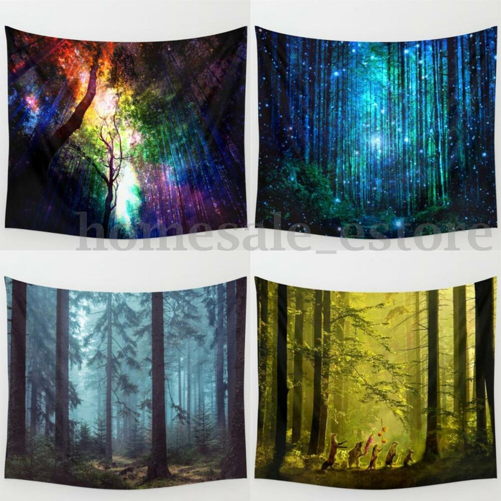 New 4 Style Forest Tree Hanging Wall Hippie Tapestry Yoga