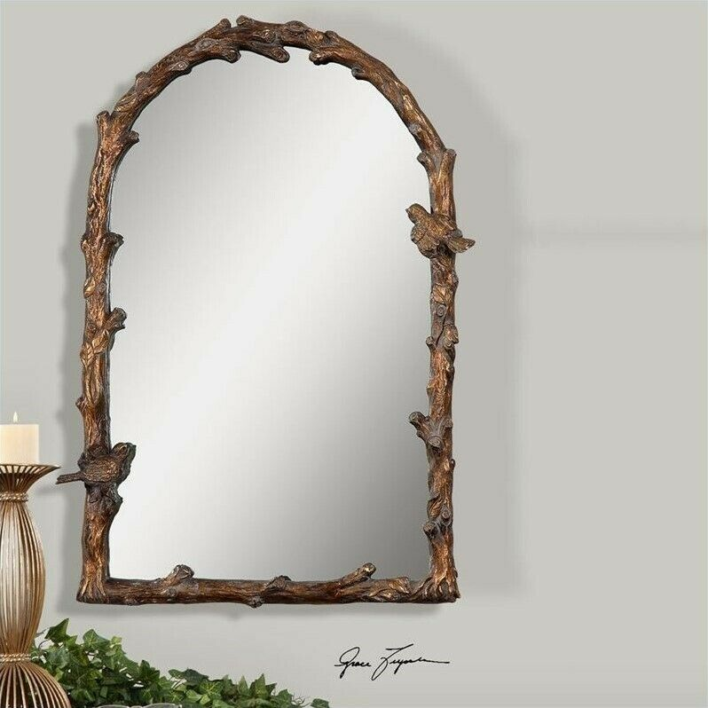 Uttermost Paza Arch Mirror Rectangle In Distressed Antique