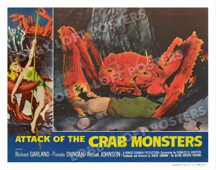 ATTACK OF THE CRAB MONSTERS LOBBY SCENE CARD # 9 POSTER ...