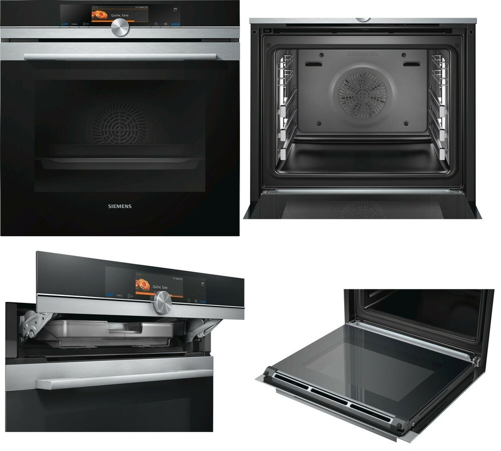 backofen mit dampfgarer siemens hs658gxs6 touchscreen a 2 sofortrabatt ebay. Black Bedroom Furniture Sets. Home Design Ideas