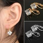 Women Gold Silver Filled Dangle Crystal Rhinestone Awesome Earrings Jewelry Gift