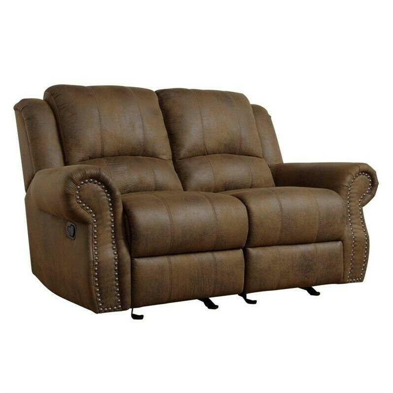 Coaster Rawlinson Microfiber Motion Reclining Loveseat In