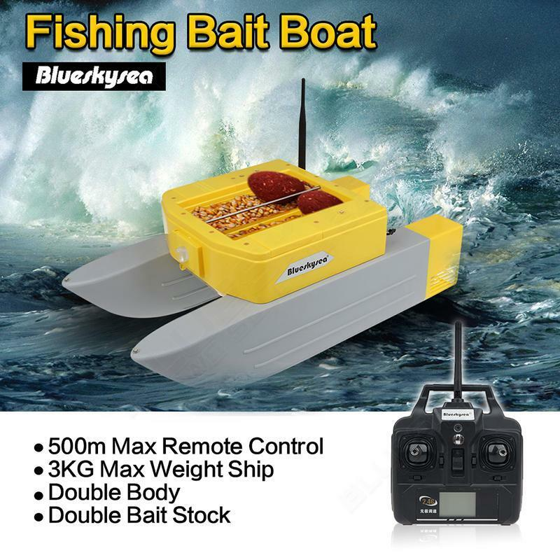 Updated t168 boat fishing bait hook boat rc anti grass for Remote control fishing boats