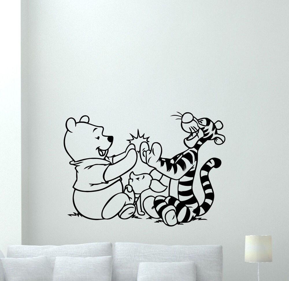 Winnie The Pooh Wall Decal Tigger Piglet Cartoon Vinyl