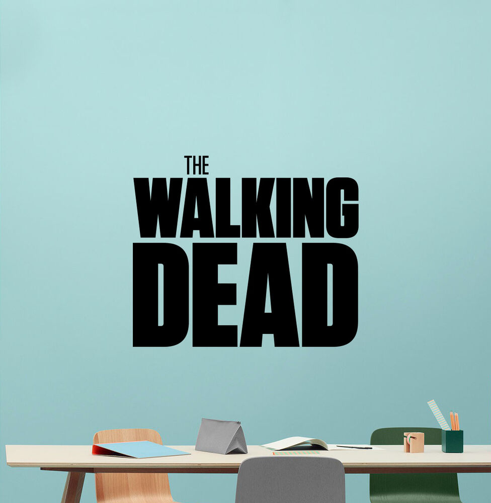 Walking dead wall decal zombie movie tv series vinyl for Mural walking dead