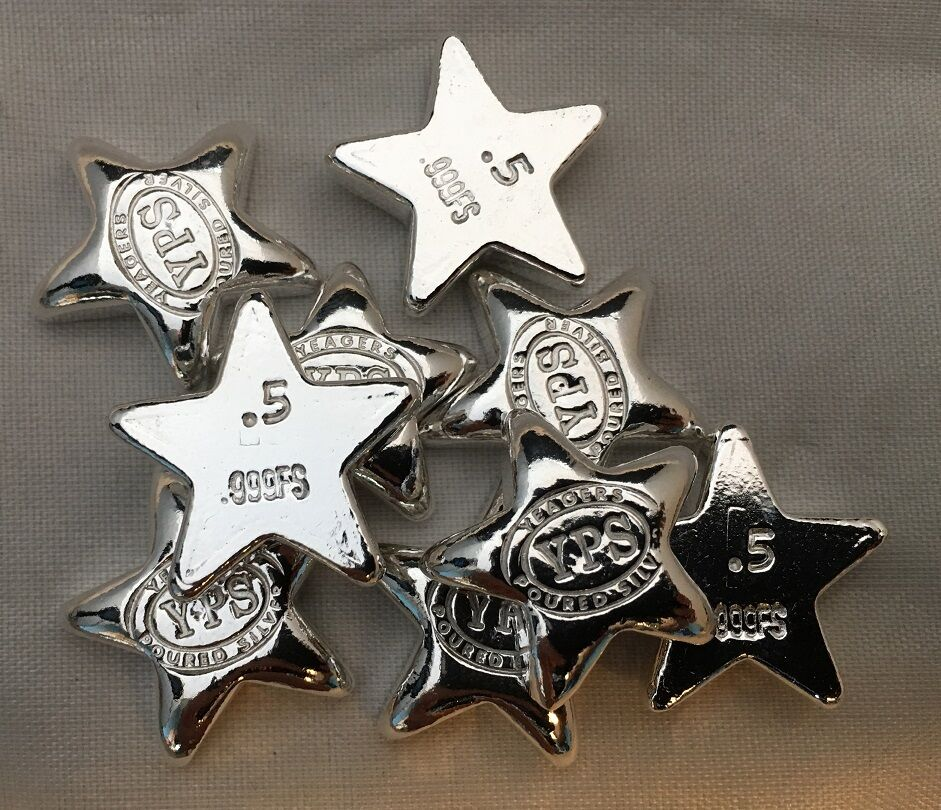 1 2 Troy Ounce Hand Poured 999 Silver Bullion Quot Star Quot By
