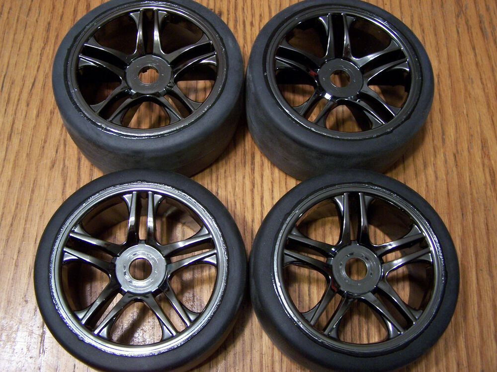 Premise 75 Vs I Maxx Pro: Set Of 4 Traxxas XO-1 Super Car Front Rear Tires & Wheels