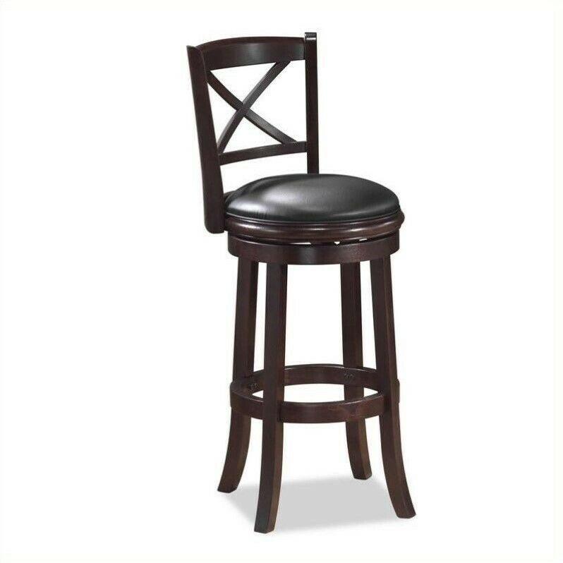 Boraam Georgia 24 Swivel Counter Stool With Back Without Arms In