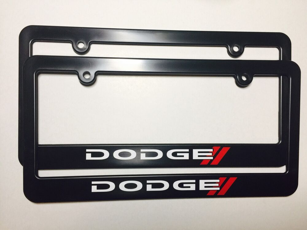 Dodge Plastic License Plate Frame Vinyl Decal Charger