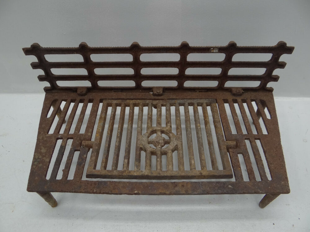 antique cast iron metal 26 design pat 70 interior fireplace hearth grate stand ebay. Black Bedroom Furniture Sets. Home Design Ideas