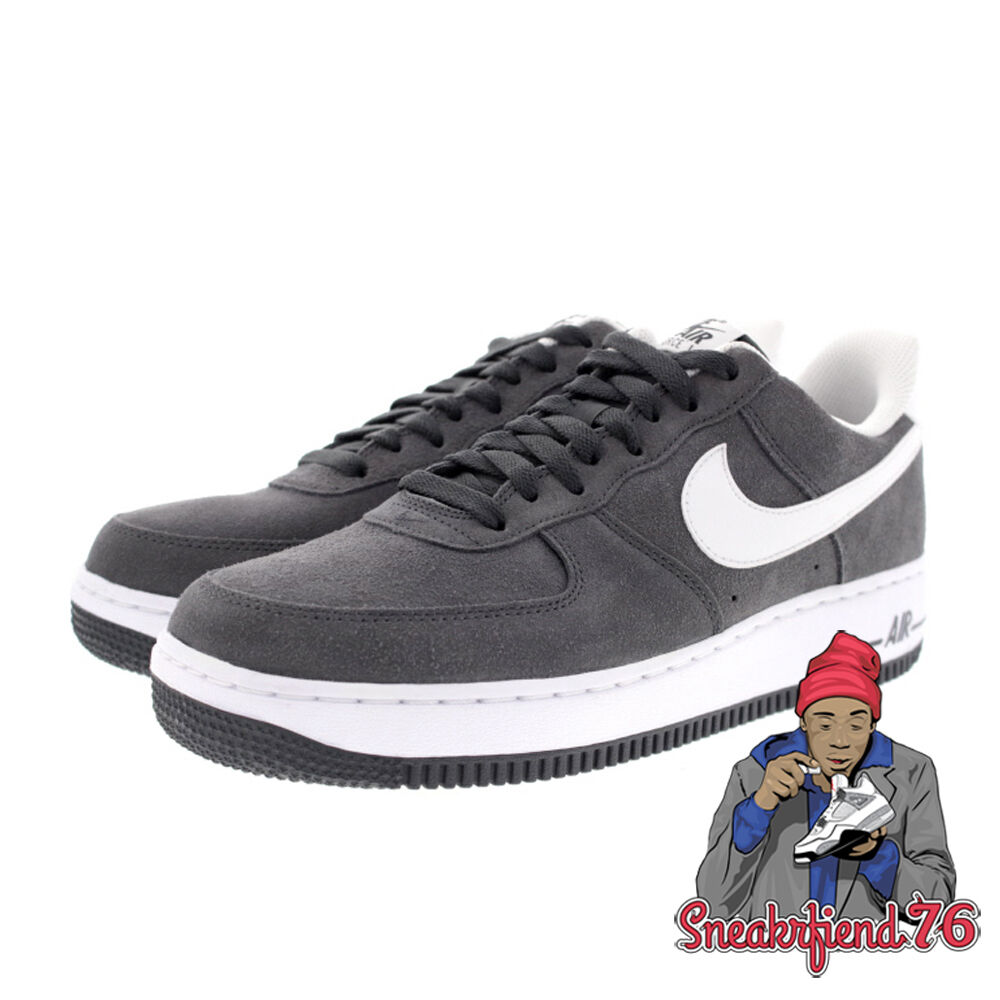 men 39 s nike air force 1 low nubuck 315122 067 anthracite. Black Bedroom Furniture Sets. Home Design Ideas