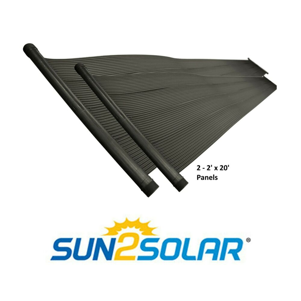 4 X20 Above Ground Amp In Ground Swimming Pool Solar