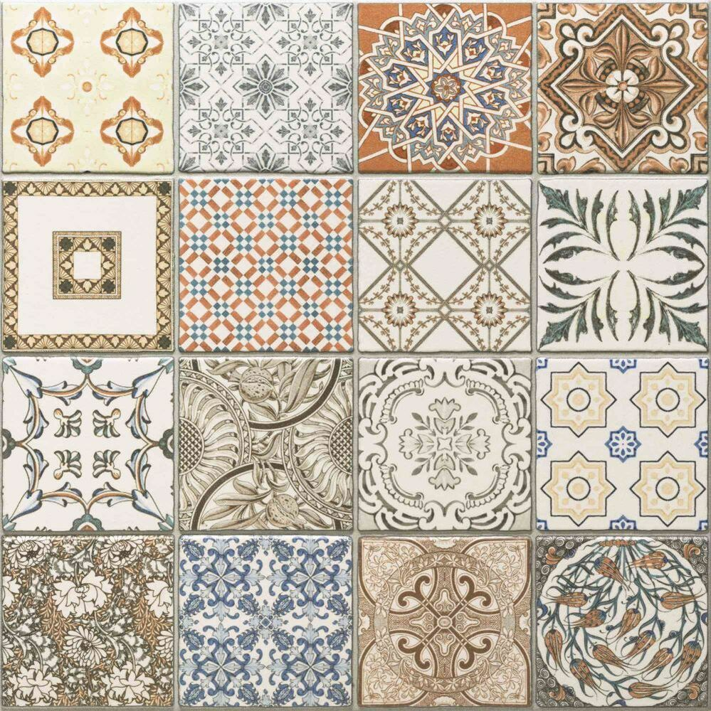 45x45 Cm Porcelain Moroccan Style Floor Wall Patchwork