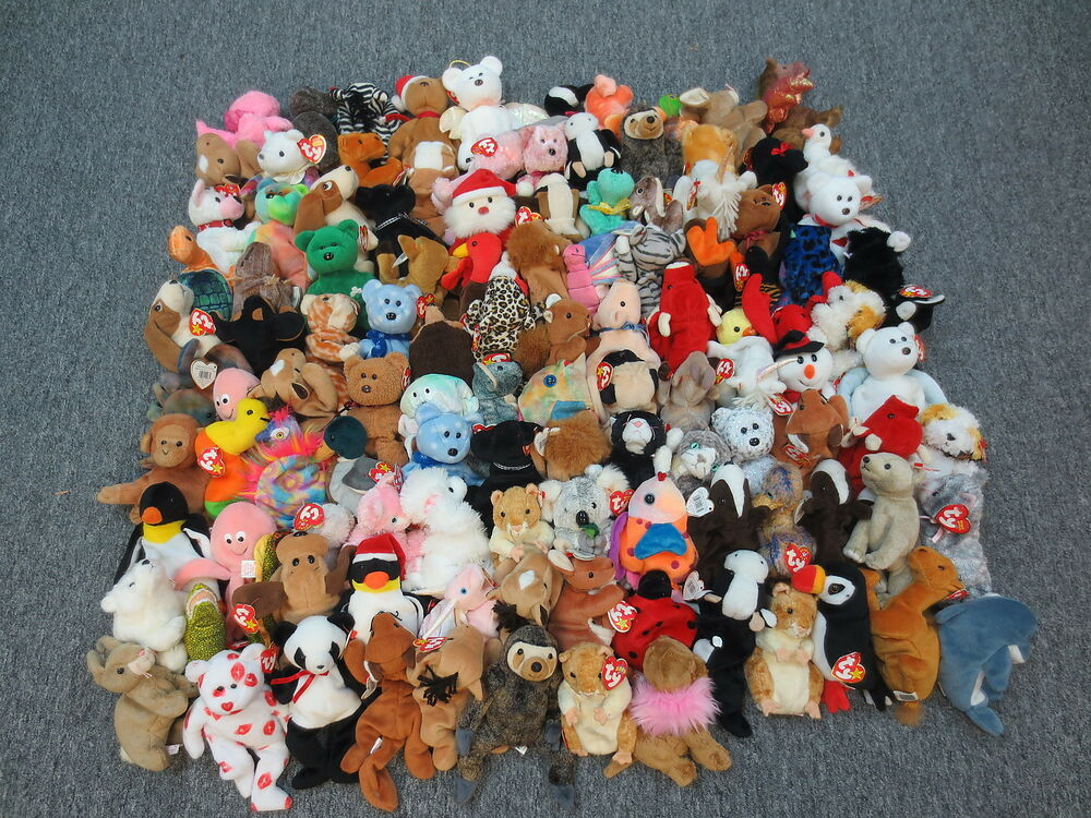 116 ty beanie babies collection lot wholesale bulk all beanies bears animals ebay. Black Bedroom Furniture Sets. Home Design Ideas
