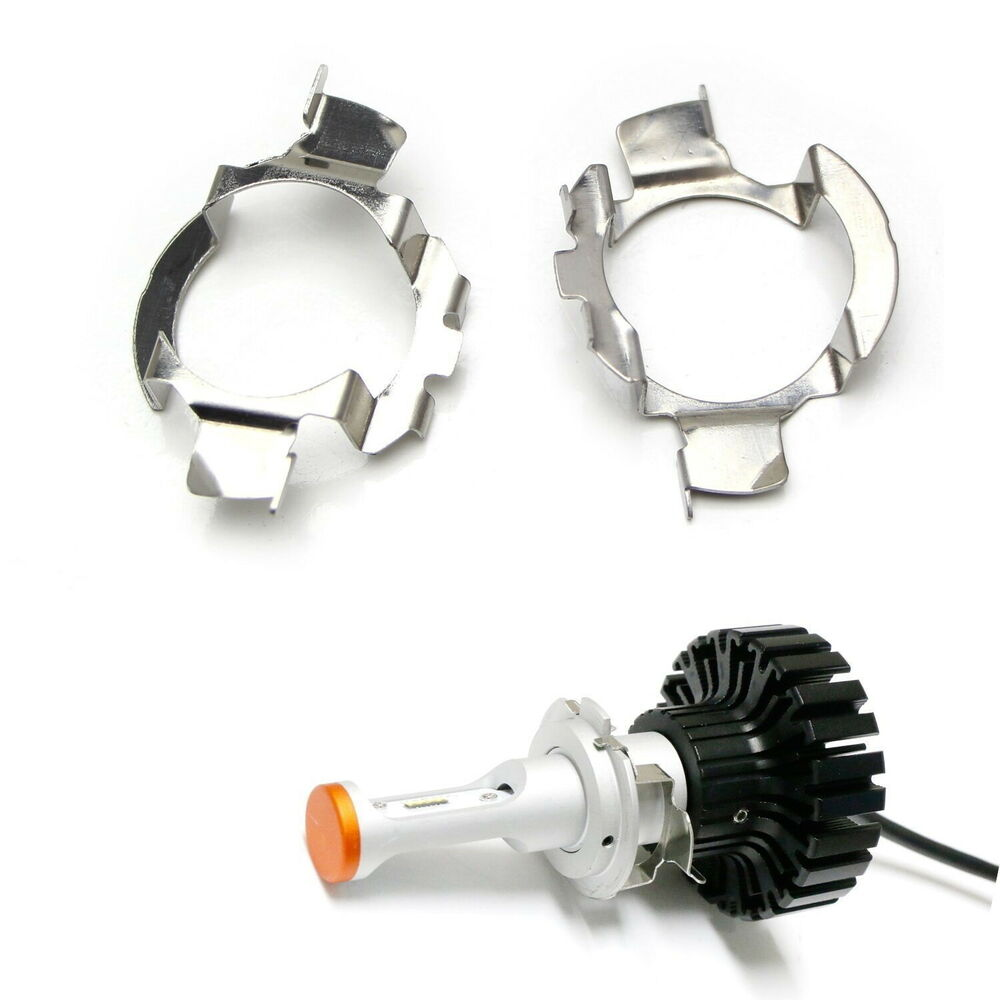 H7 Led Headlight Bulbs Adapters Holders Retainers For Audi Bmw Mercedes Benz Vw Ebay