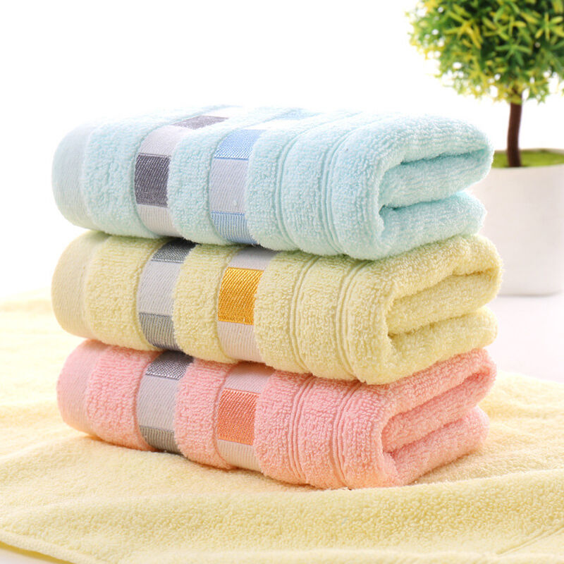 Hand Towels Bathroom: Home Soft Cotton Solid Color Towels Bath Sheet Bath Towel