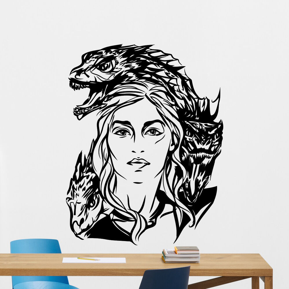 Daenerys Targaryen Game Of Thrones Wall Decal Vinyl