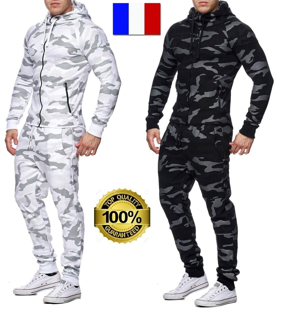 survetement jogging militaire ensemble camouflage capuche homme coton s m l xl ebay. Black Bedroom Furniture Sets. Home Design Ideas