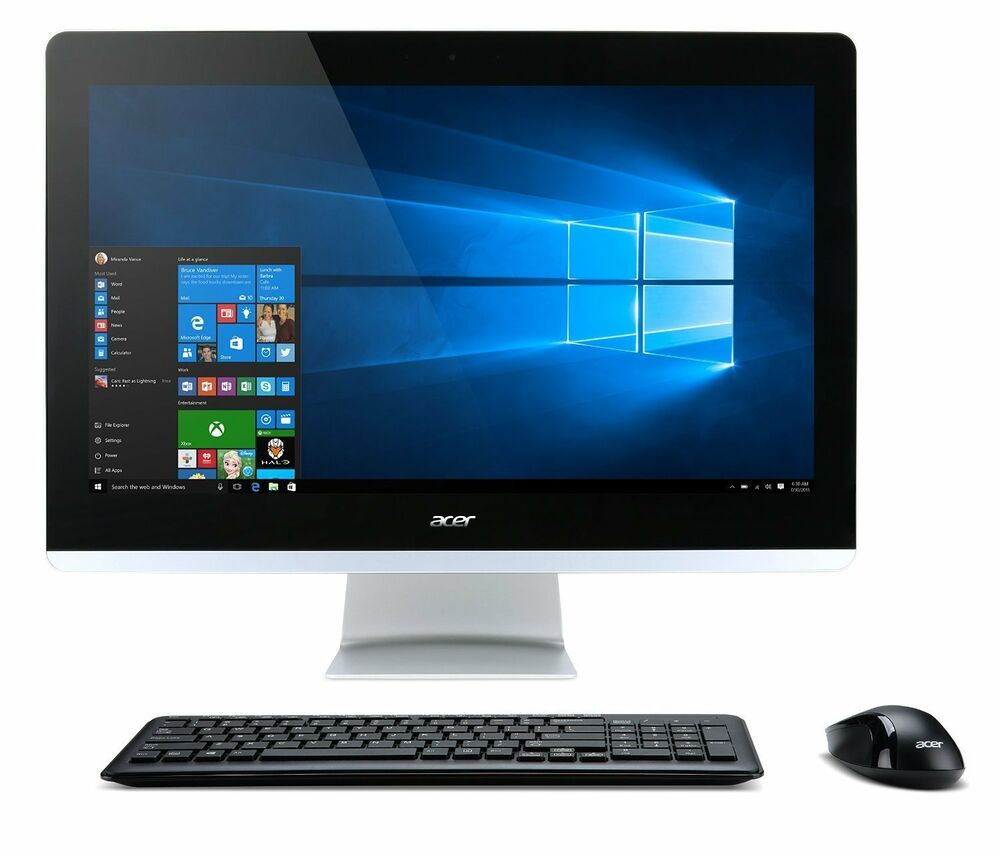 new acer aspire aio desktop all in one computer pc az3 715. Black Bedroom Furniture Sets. Home Design Ideas