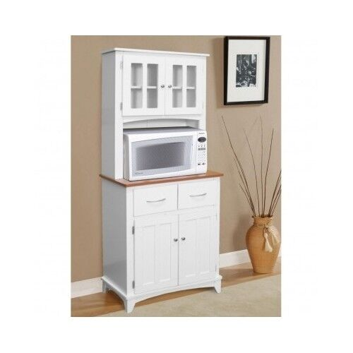 White Kitchen Hutch Buffet China Cabinet Storage Cupboard Pantry Drawers Shel