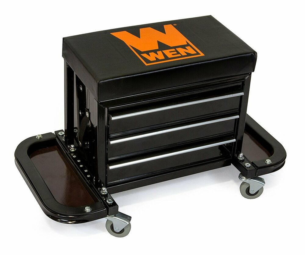 Mechanics Work Stool Garage Seat Creeper Shop Rolling