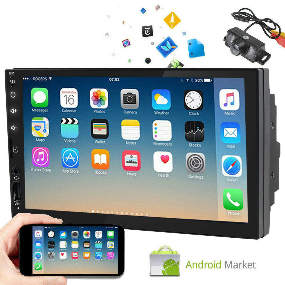 """Android 6.0 Car Stereo GPS NO-DVD Player 7"""" Tablet Double"""