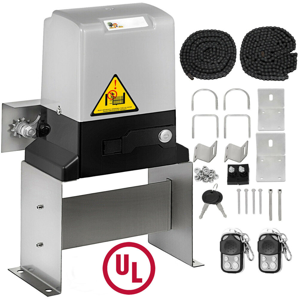 1800lbs Sliding Gate Opener Door Operator Kit Automatic