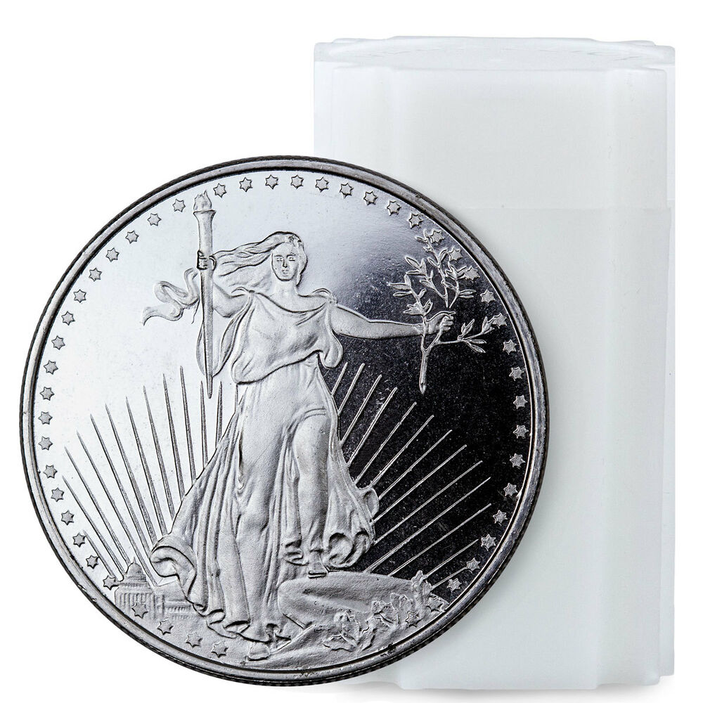 Highland Mint 1 Oz Silver Saint Gaudens Design Round Roll