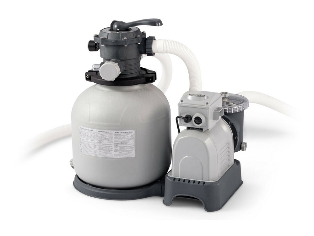 Intex 28651eg above ground 3000 gph 16 swimming pool sand filter pump set ebay - Pool filter sand wechseln ...