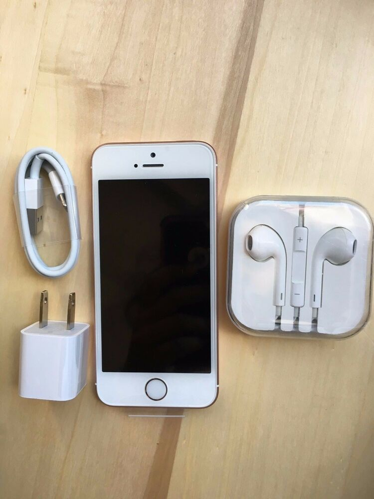 new apple iphone se 64gb rose gold verizon factory unlocked ebay. Black Bedroom Furniture Sets. Home Design Ideas