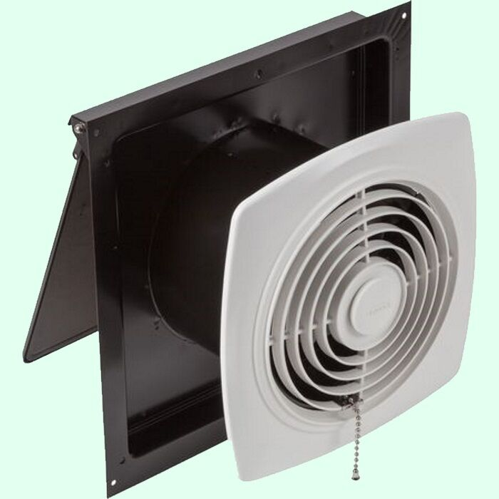 Kitchen exhaust fan 8 pull chain white wall ventilation for Kitchen exhaust fan in nepal