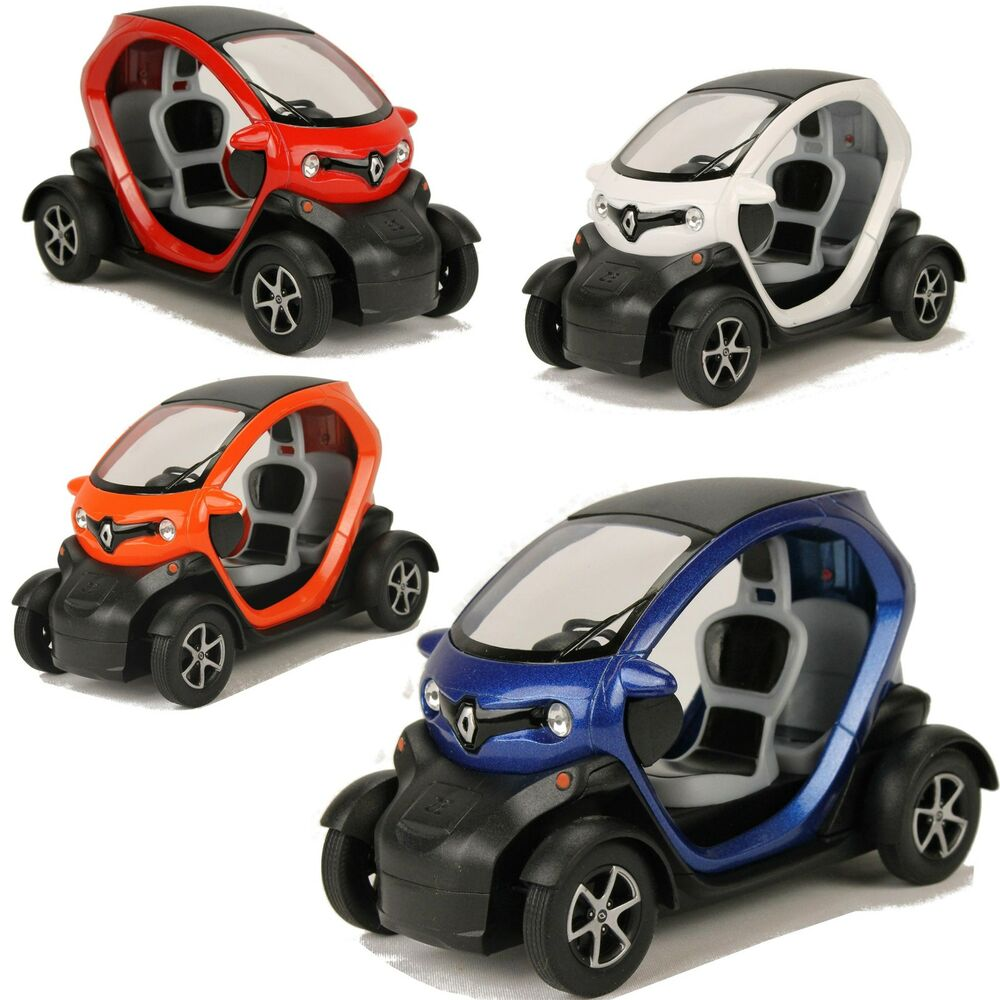 renault twizy ze modellauto 1 18 e auto 12cm elektro roller spielzeug auto ebay. Black Bedroom Furniture Sets. Home Design Ideas