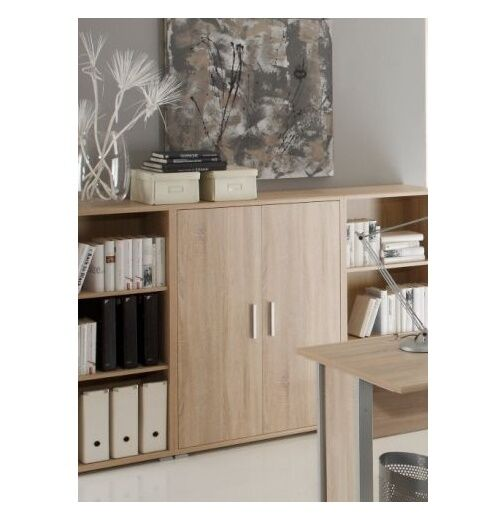schrank f r b ro kommode b roschrank aktenschrank eiche sonoma dekor office line ebay. Black Bedroom Furniture Sets. Home Design Ideas