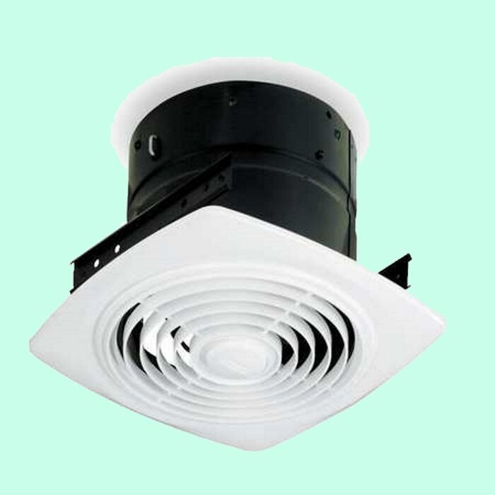 Bathroom ceiling exhaust fan white kitchen bath room - Ductless bathroom exhaust fan with light ...