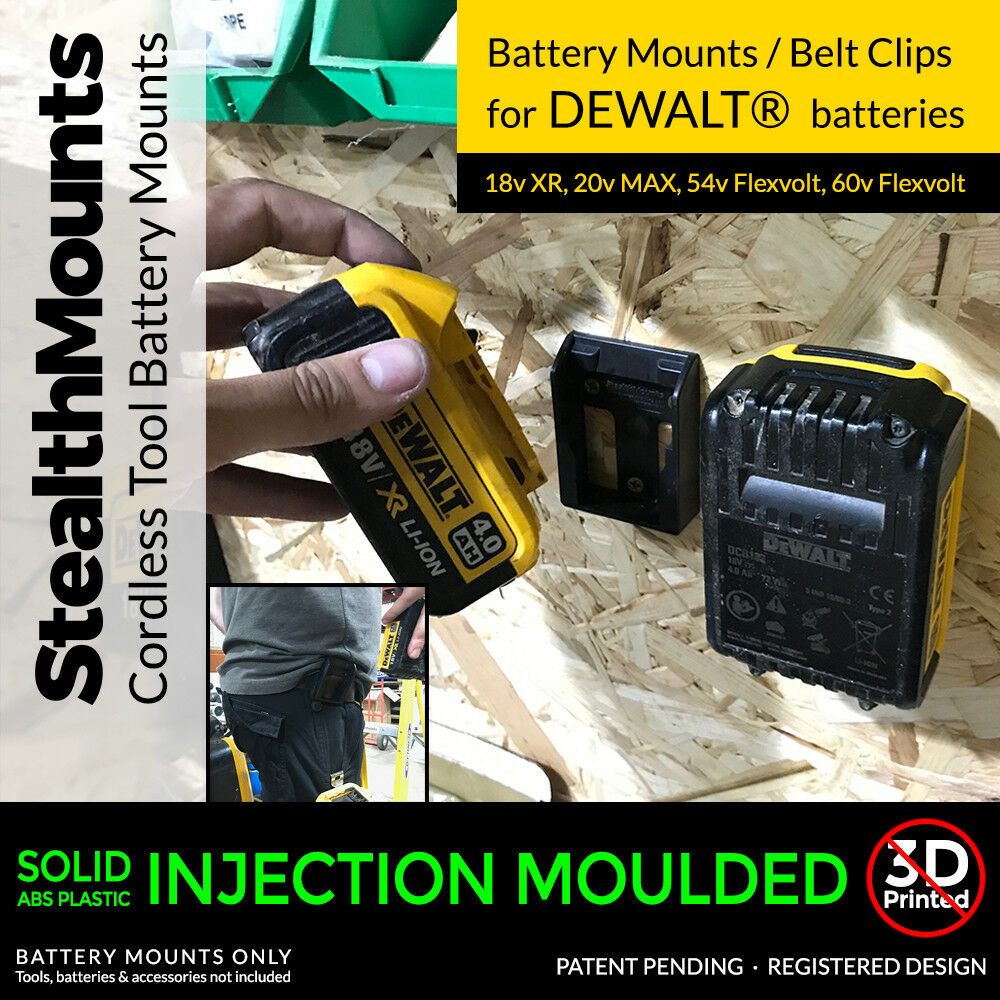 Battery Mounts For Dewalt Xr Storage Holders Slot Shelf