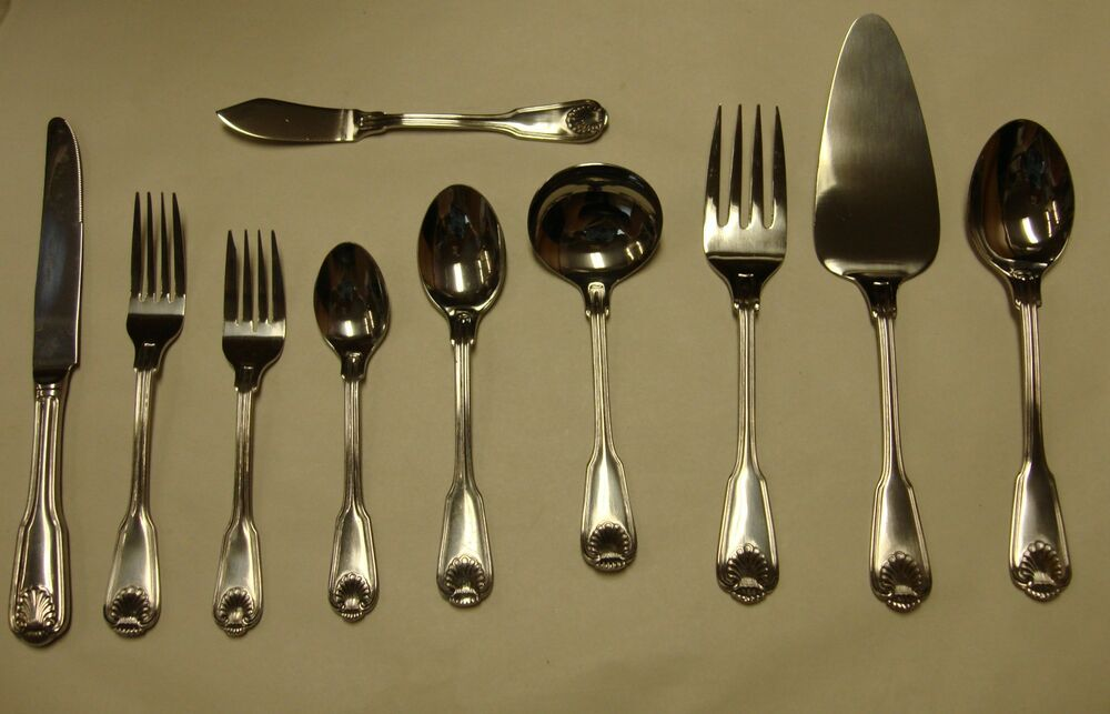Main Course Shell Edge Stainless Mnf27 Flatware Japan