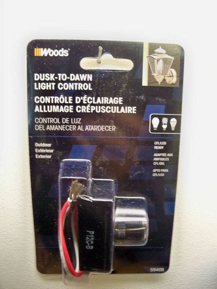 New Woods Dusk To Dawn Outdoor Photocell Light Control Cfl