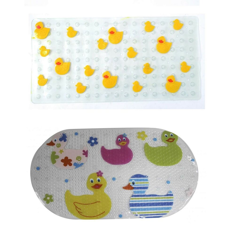 Childrens Kids Fun Quackers Or Duck Design Bath Shower Mat