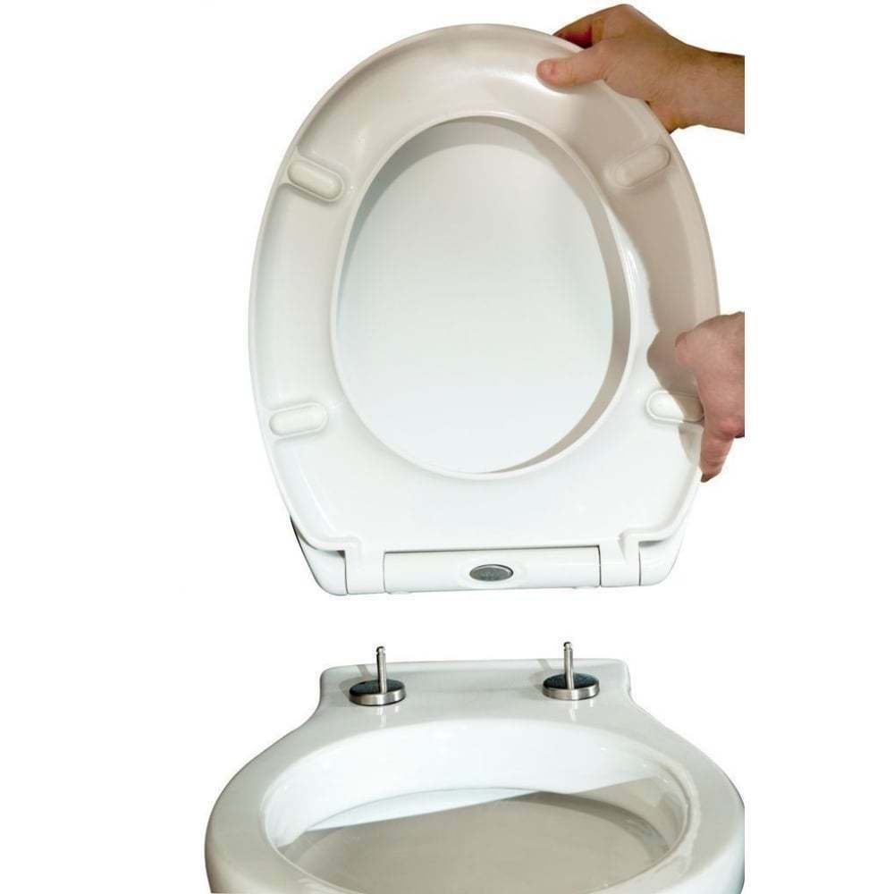 Luxury White Toilet Seat Soft Close Top Fix Quick Release
