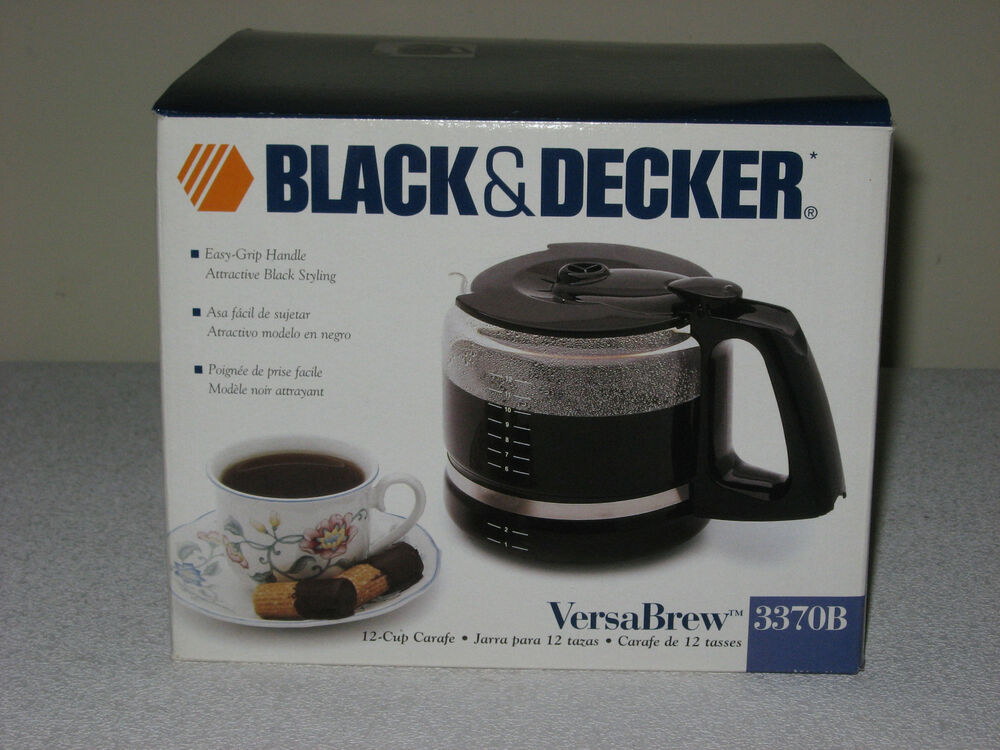 Black And Decker Coffee Maker Cm1300sc : NEW BLACK & DECKER BLACK VERSA BREW 12 CUP GLASS CARAFE REPLACEMENT COFFEE POT eBay