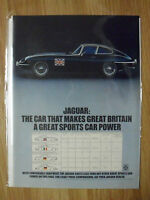 1970 Print Ad Jaguar XKE Roadster Sports Car Automobile ~ Great Britain a Power