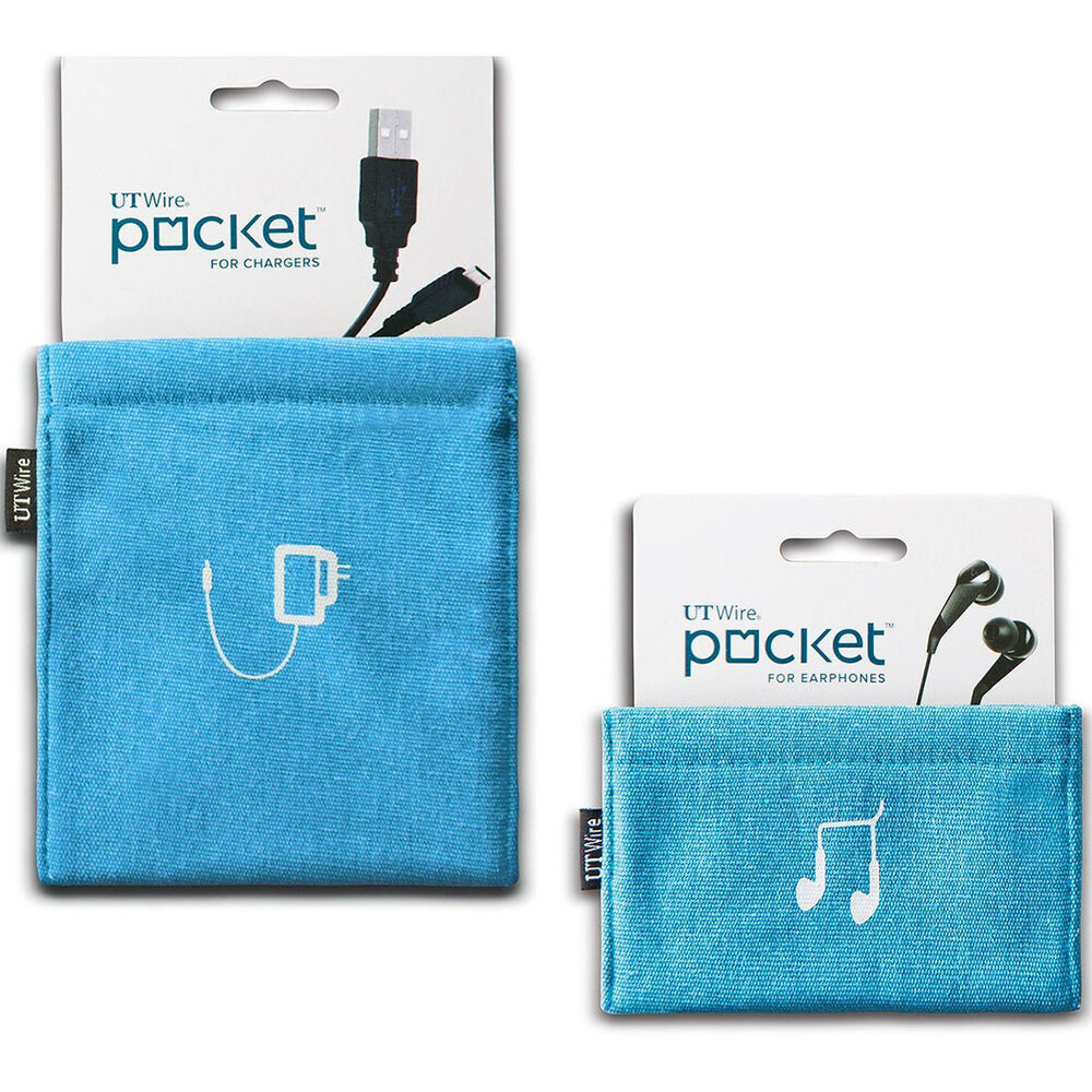 Ut Wire   Pocket Earbud Earphone Charger Pouches Headphone Travel Organizer