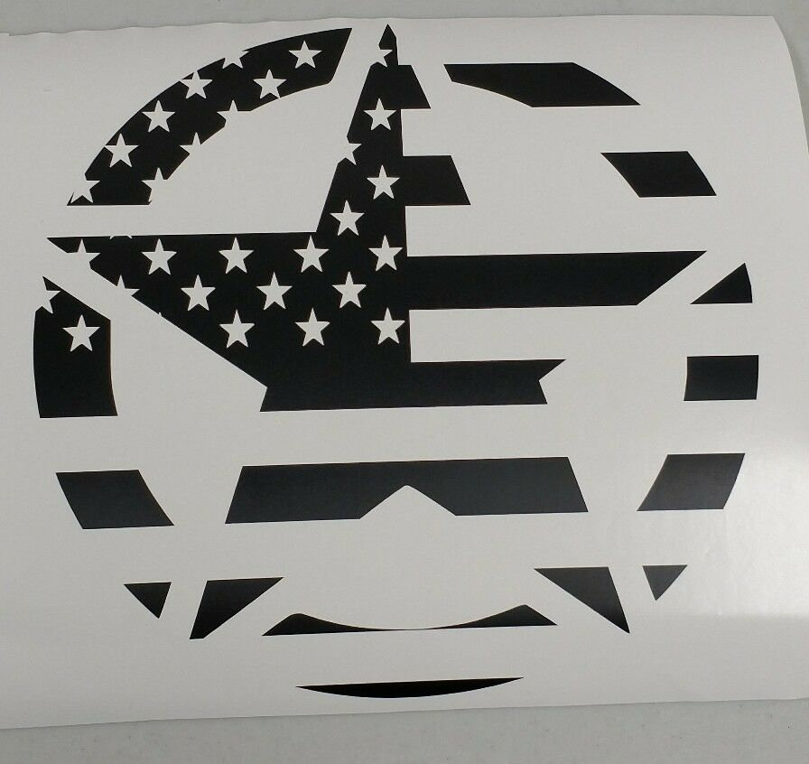 Military Star American Flag Decal 1 20 Quot Jeep Ford