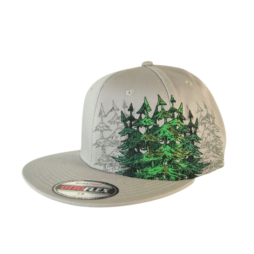 2213dc91e32 Flat Bill Forrester Otto Custom Hat Humboldt Clothing Stretch Fitted 420  Tree CA