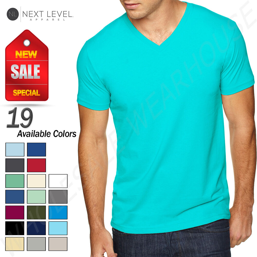 9 Pack Next Level Mens Premium Sueded V-Neck shirt 6440-Heavy Metal