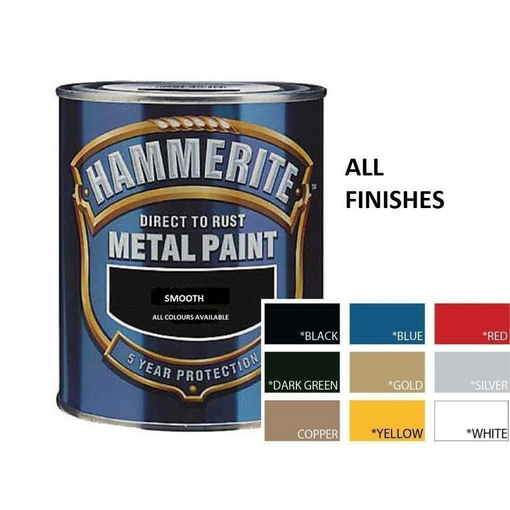 Hammerite direct to rust metal paint 250ml all colours hammered